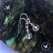 Clear Quartz Silver Accent Earrings